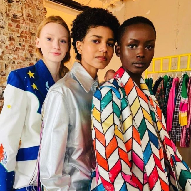 Rainbow under eye liner for Mira Mikati Presentation 2020